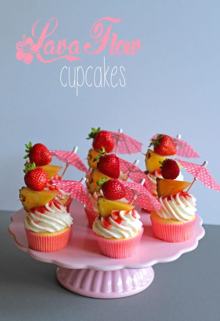 Lava Flow Cupcakes