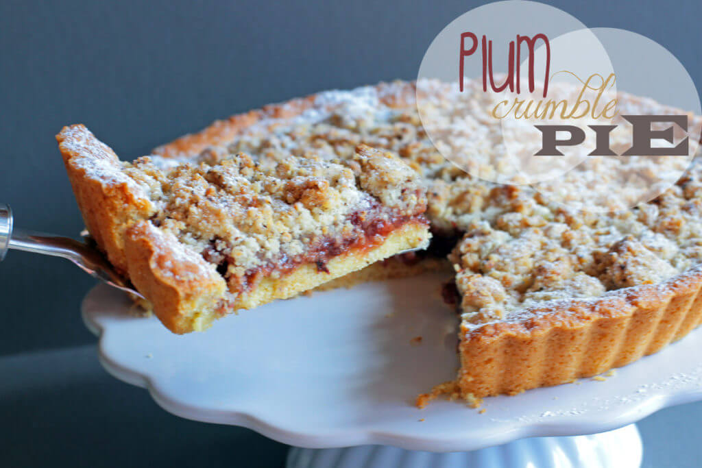 Plum Crumble Pie
