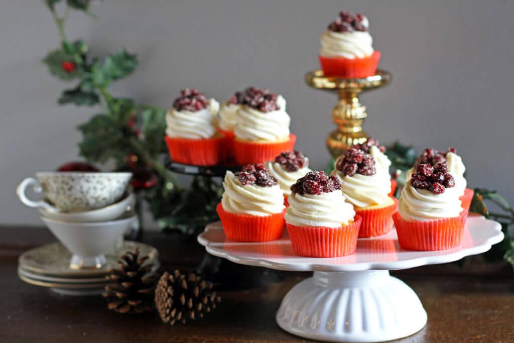 Cranberry Lemon Cupcakes
