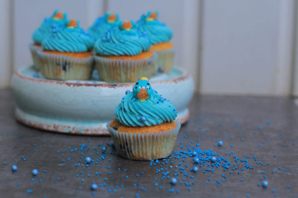 Blueberry Birthday Cupcakes