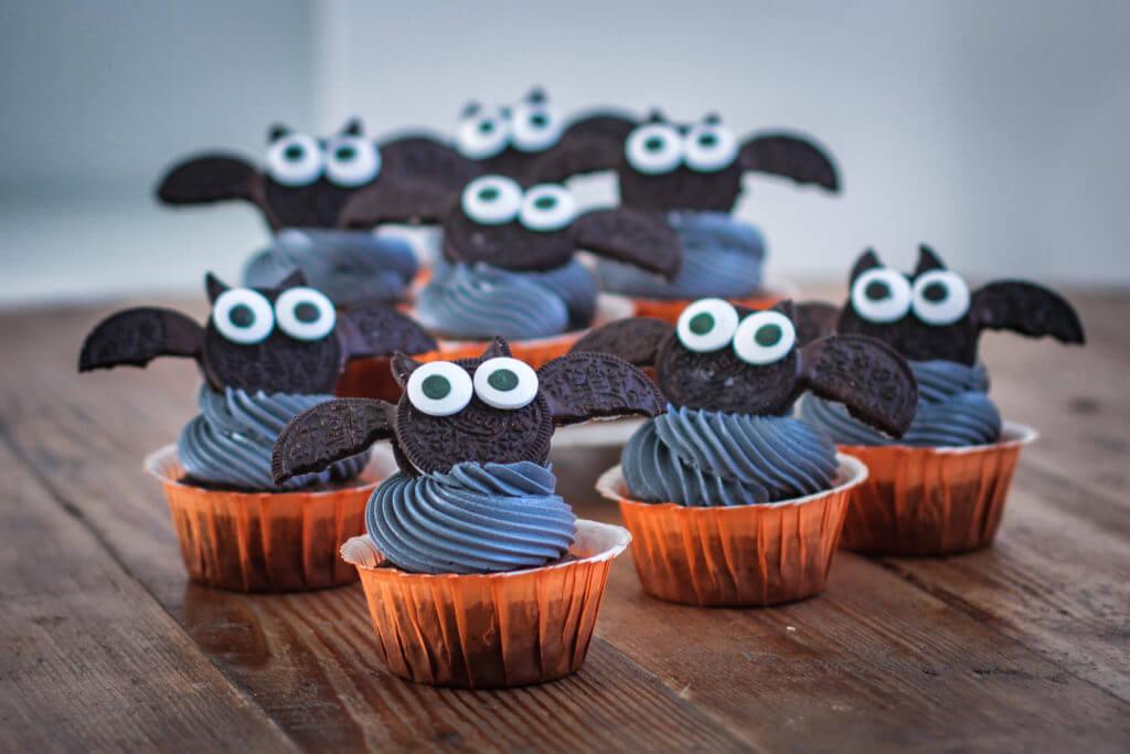 Black Velvet Halloween Cupcakes
