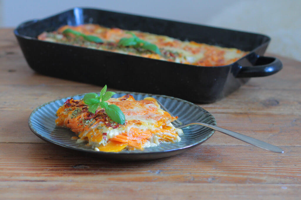 Süßkartoffel-Kürbis Auflauf | Sweet Potato-Squash Casserole